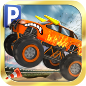 Download Monster Truck Jam Parking Simulator - Real Car Driving Test Run Sim Racing Games free for iPhone, iPod and iPad