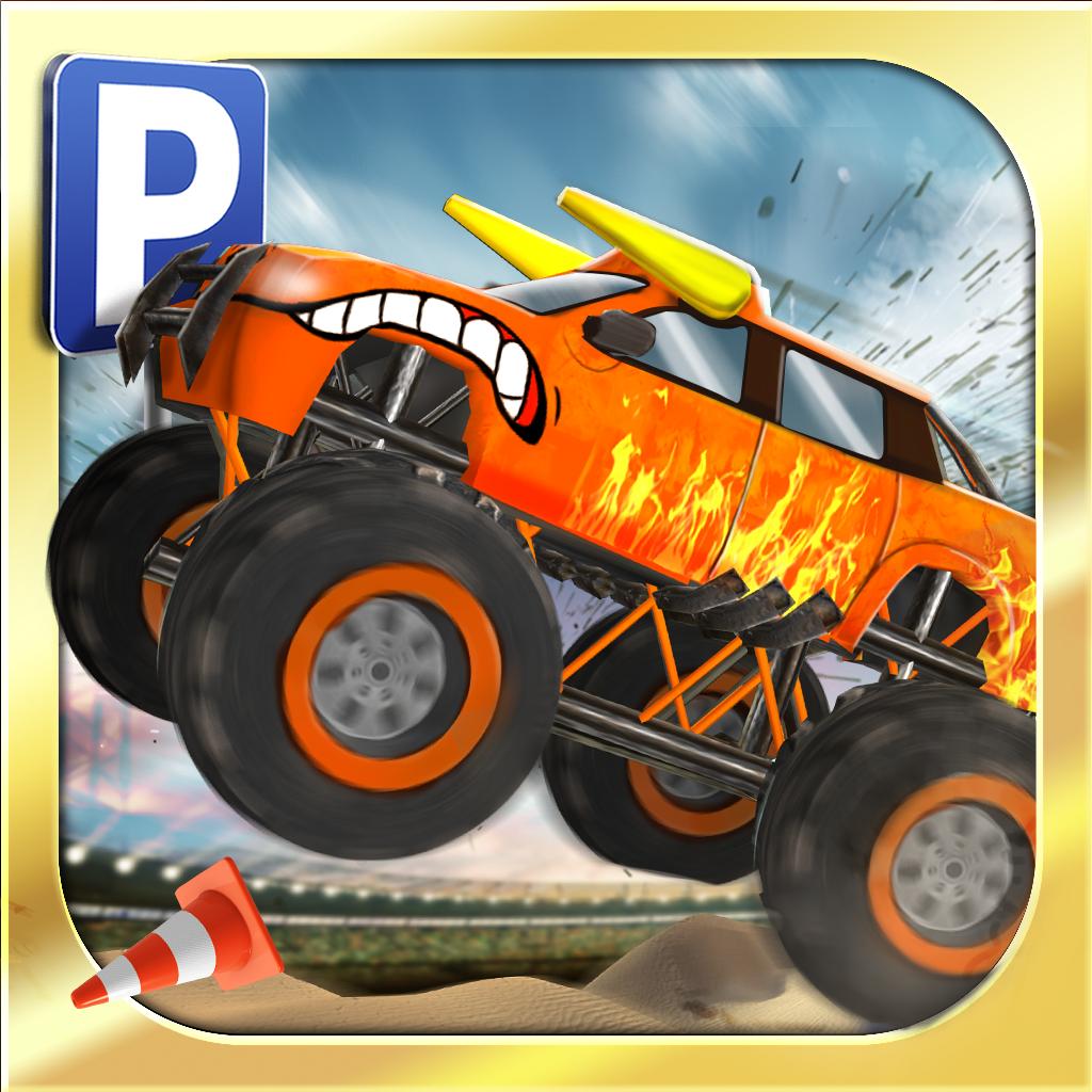 monster truck jam parking simulator gratuit jeux de voiture de course par play with games ltd. Black Bedroom Furniture Sets. Home Design Ideas